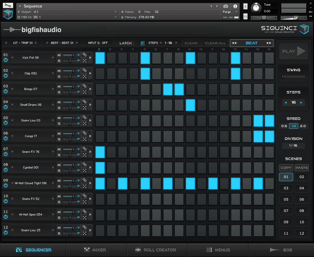 Sequence: Hip Hop Beat Creator Big Fish Audio GUI 1