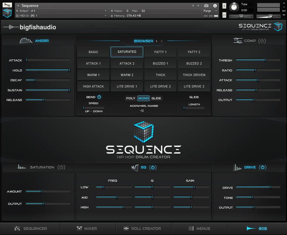 Sequence: Hip Hop Beat Creator Big Fish Audio GUI 5
