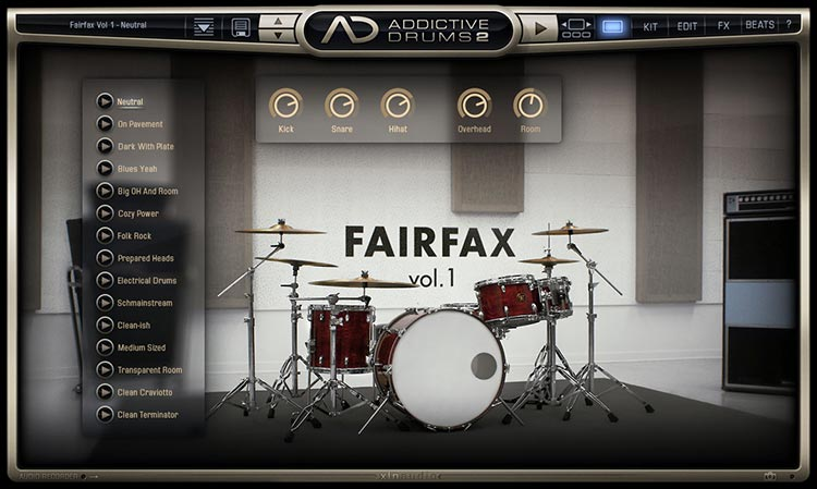 Addictive Drums 2 Screen