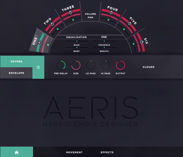 Aeris: Hybrid Choir Designer User Screen