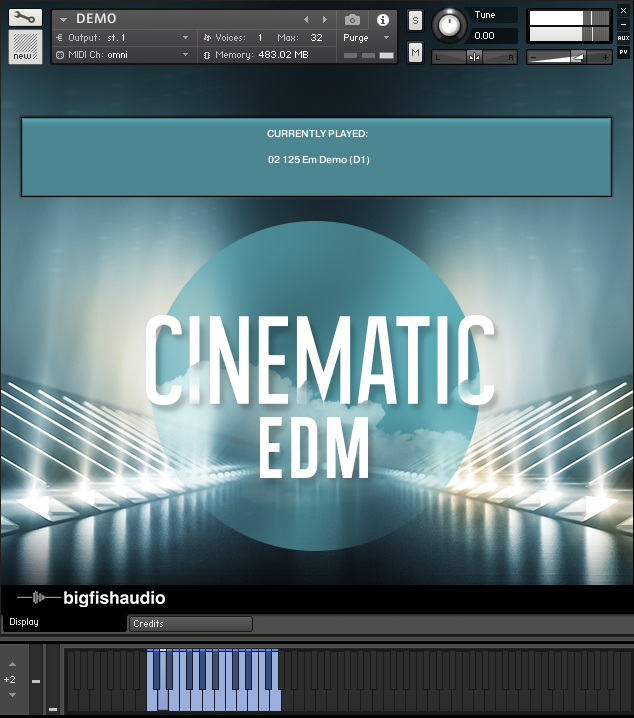 Cinematic EDM GUI