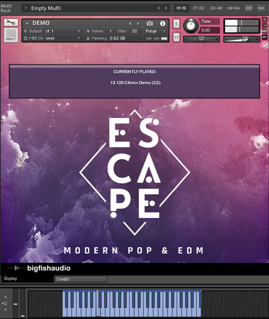 Escape: Modern Pop & EDM GUI