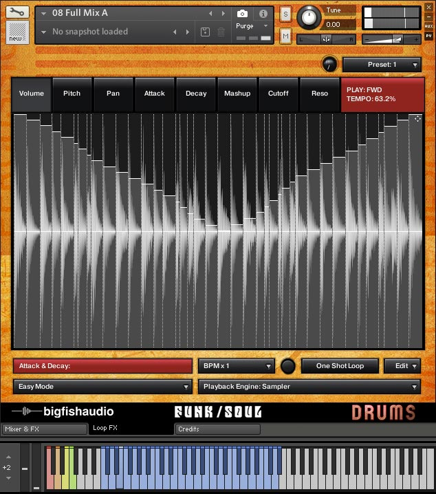 Vintage Drum Loops GUI