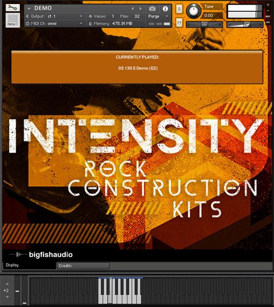 Intensity: Rock Construction Kits GUI