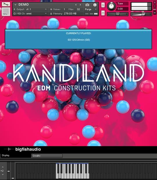 Kandiland: EDM Construction Kits GUI