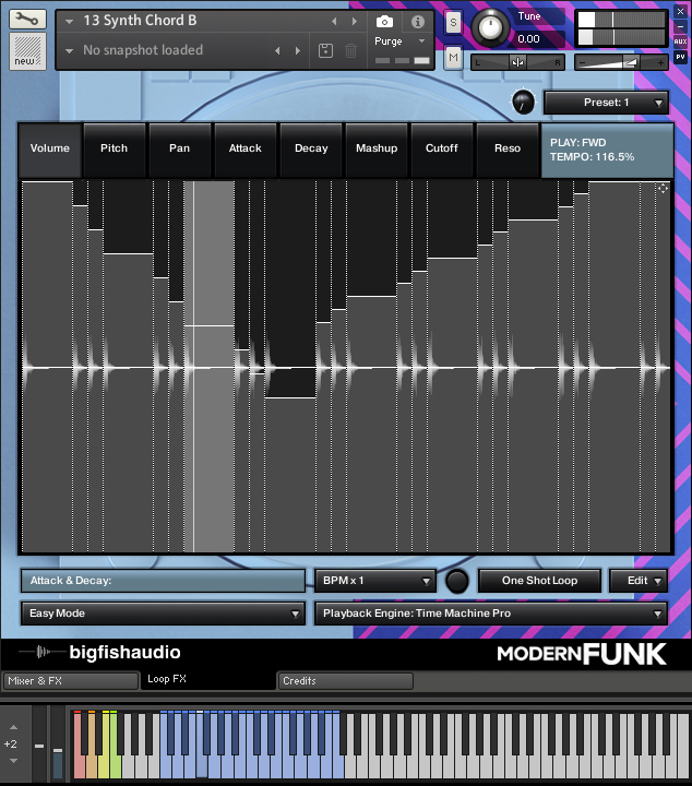 Modern Funk: Funk-Pop Construction Kits GUI