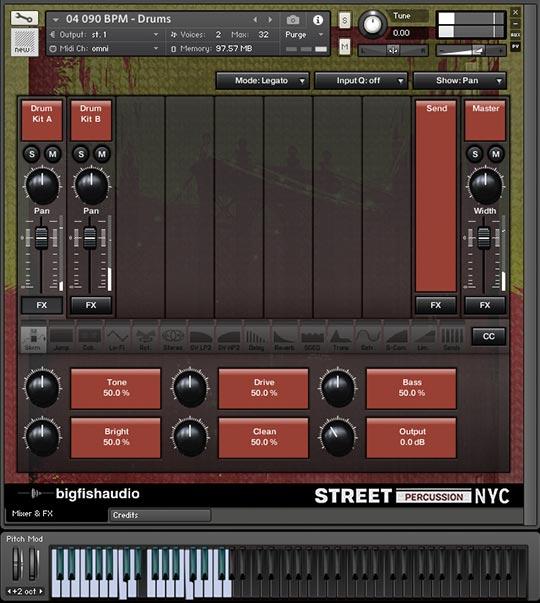 Street Percussion NYC GUI