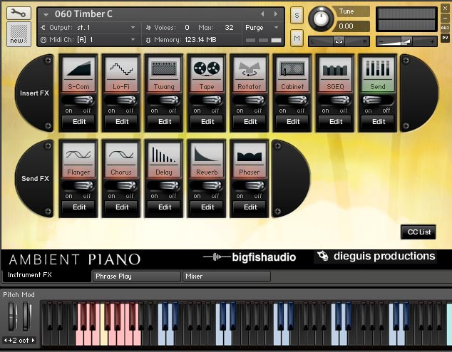 Ambient Piano Screenshot
