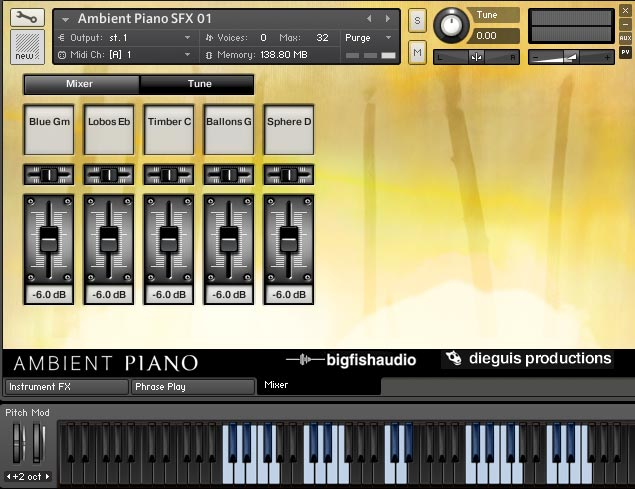 Ambient Piano Screenshot