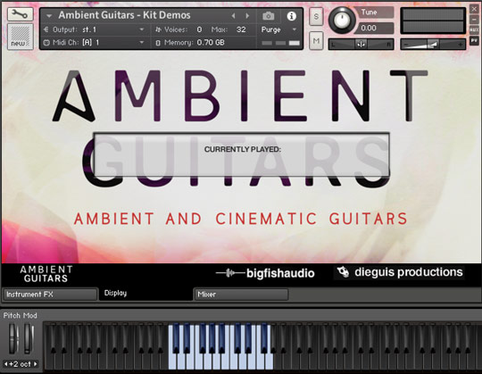 Ambient Guitars GUI