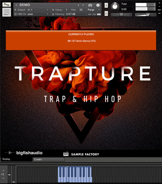 Trapture: Trap and Hip Hop GUI