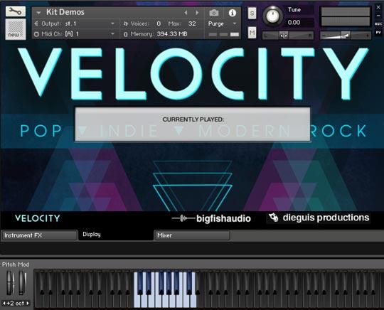 Velocity GUI