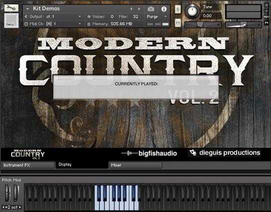 Modern Country Vol 2 GUI